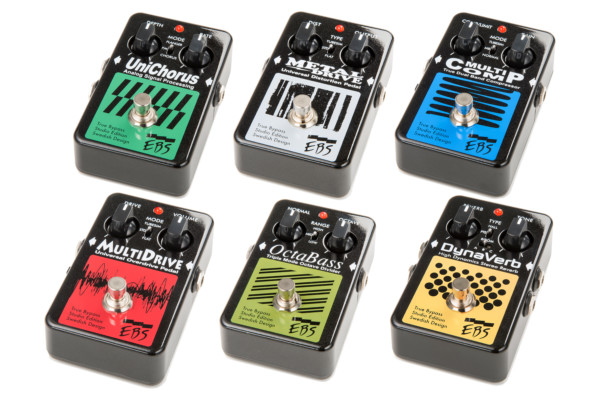 EBS Introduces Black Label Studio Edition Pedals
