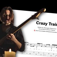 "Bass Transcription: Gheorghe Postoronca's ""Crazy Train"""