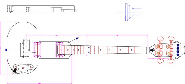 Eastwood Be Stiff Bass Schematic