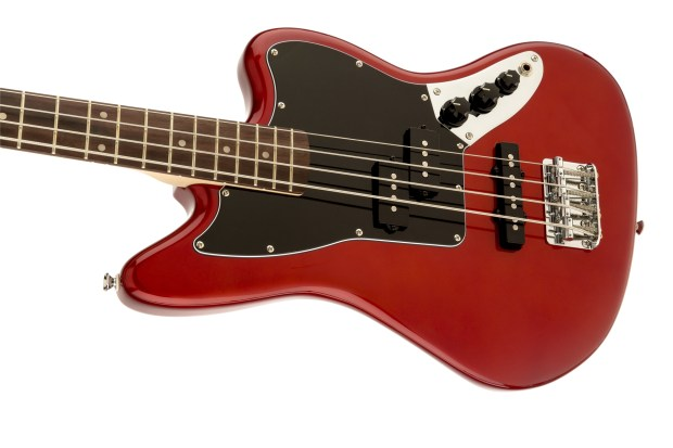 Squier Vintage Modified Jaguar Bass Special SS Red Body