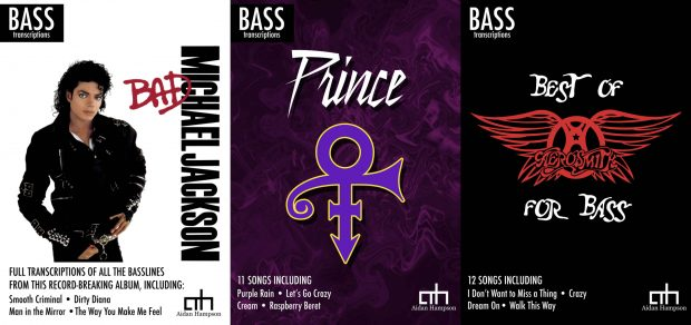 Aidan Hampson Prince, Michael Jackson and Aerosmith Transcriptions for Bass