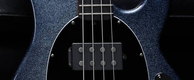 Ernie Ball Music Man Starry Night Bass Closeup