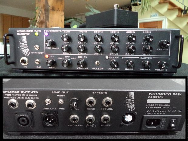 Wounded Paw Effects Bass701 Amplifier