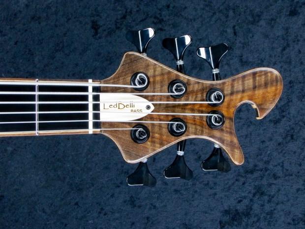 LedBelli Bass Guitars Majestic Bass Headstock