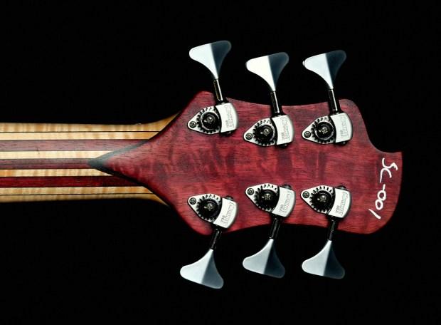 Nichols Guitar Company Seas of Cheese Bass Back of Headstock