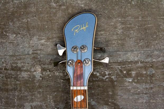 R. Hyde Guitars Long Scale Nuvo Bass Headstock