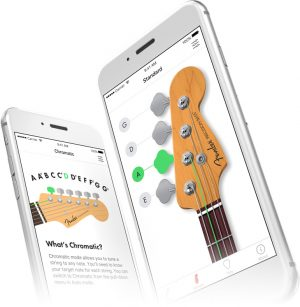 Fender Tuner app screen