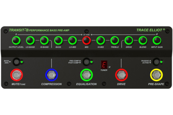 Trace Elliot Announces the Transit B Bass Guitar Preamp Pedal