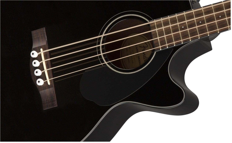 Fender CB-60SCE Acoustic Bass Guitar Black Body Closeup
