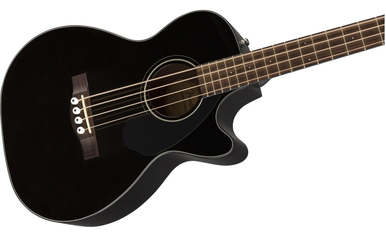Fender CB-60SCE Acoustic Bass Guitar Black Body