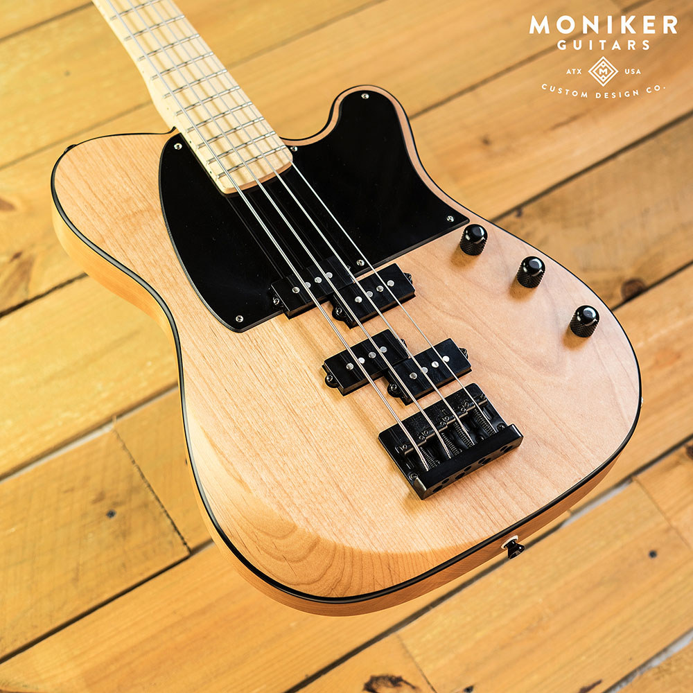 Moniker Guitars Natural Dixie Double P-Bass Body Angle