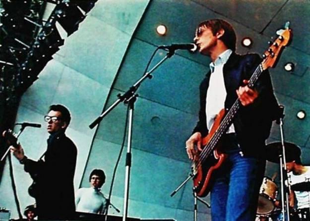 Bruce Thomas with Elvis Costello