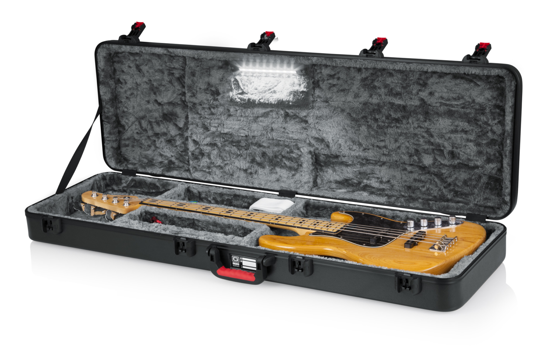 Gator Cases GTSA Bass Guitar LED Edition Case Open