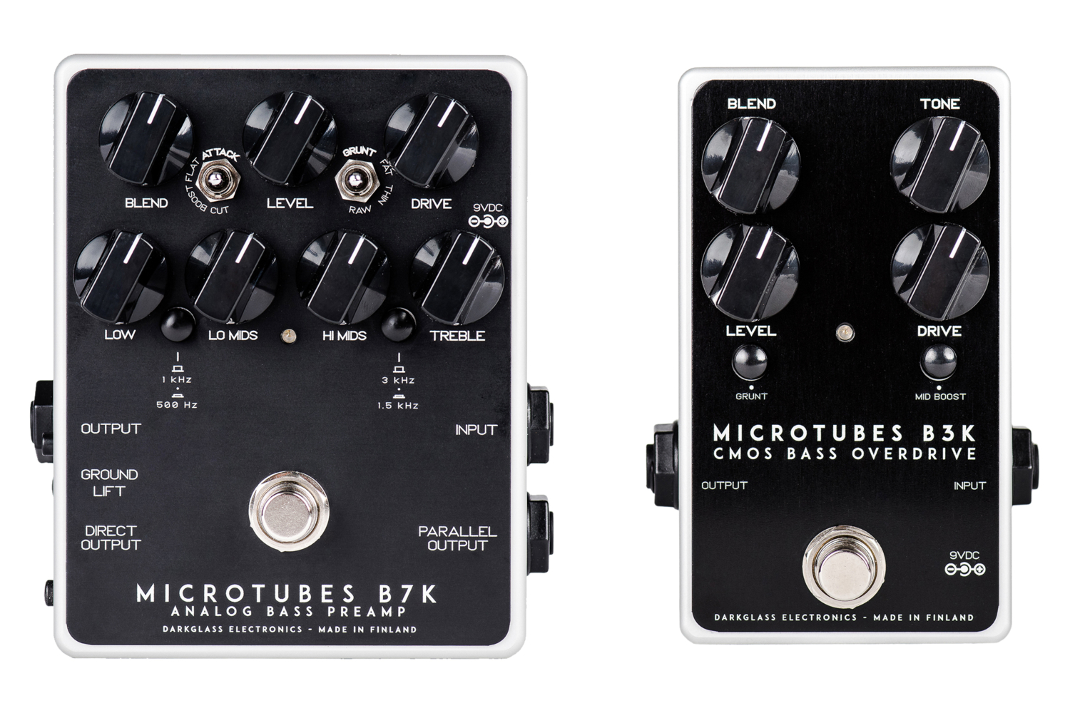 Darkglass Electronics Microtubes B3K and Microtubes B7K Pedals
