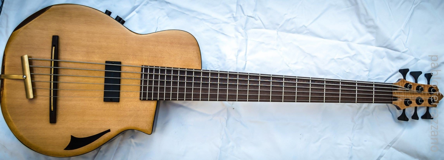 Emiliano Bernal Acoustic/Electric Custom 6-String Bass