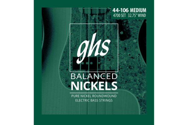 GHS Strings Unveils Balanced Nickels Bass Strings