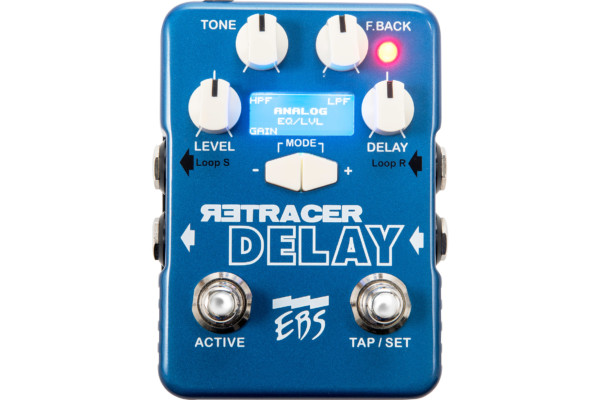 EBS Reveals ReTracer Delay Workstation Pedal