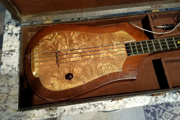 First Electric Bass Guitar, Audiovox #736, Up For Auction