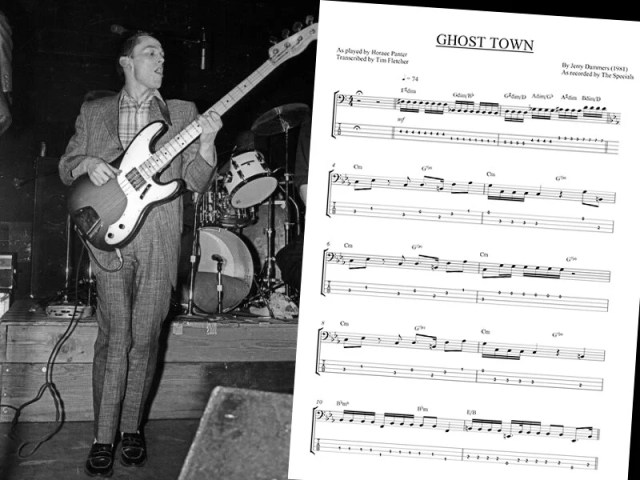 Bass Transcription Horace Panters Bass Line On Ghost Town