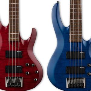 ESP Introduces Flamed Maple LTD B-204 and LTD B-205 Basses
