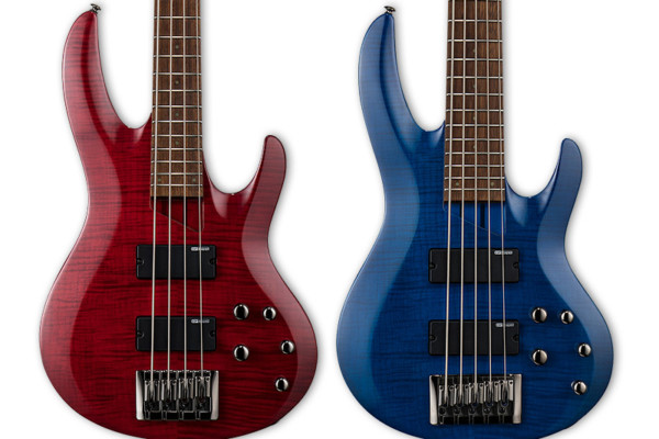 ESP Introduces Flamed Maple LTD B-204 and LTD B-205 Basses