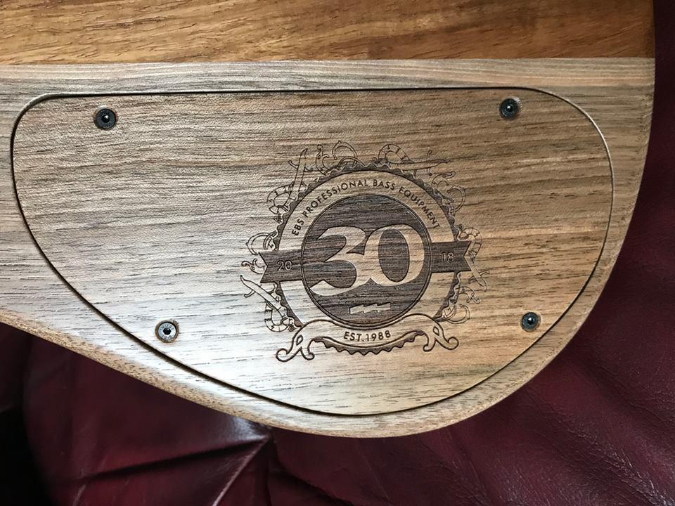 Boldogh Guitars EBS 30th Anniversary Bass Control Cavity Logo