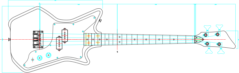 Eastwood Guitars Airline Jetsons Jr. Bass Schematic