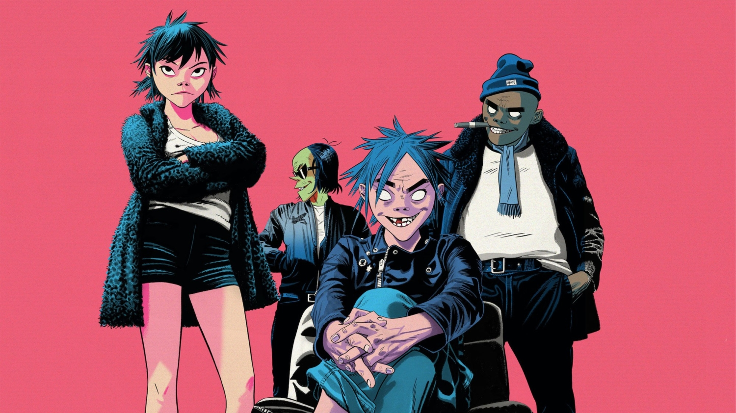 The Gorillaz with Ace