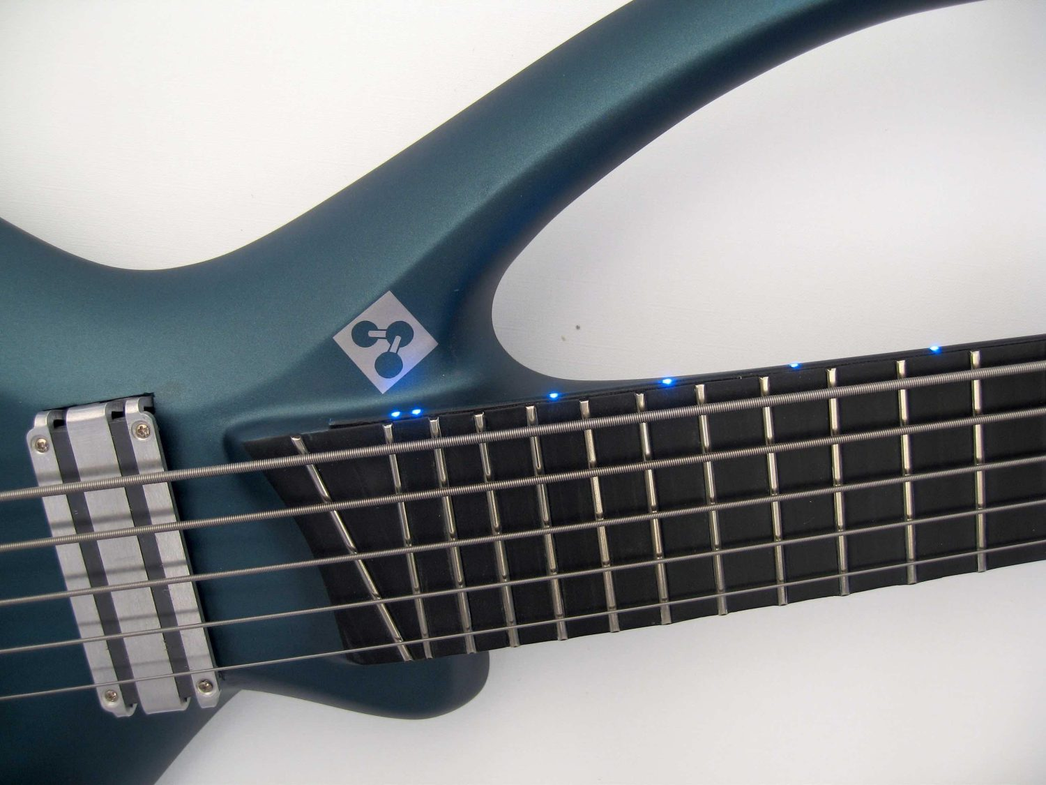 BassLab Guitars L-Bow Bass End of Fingerboard