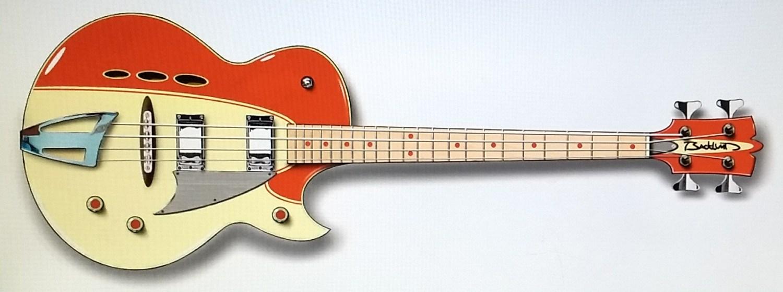 Eastwood Backlund Rockerbox Bass Red