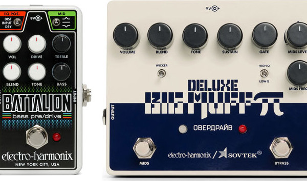 Electro-Harmonix Introduces the Sovtek Deluxe Big Muff Pi and the Nano Battalion Bass Preamp Pedals