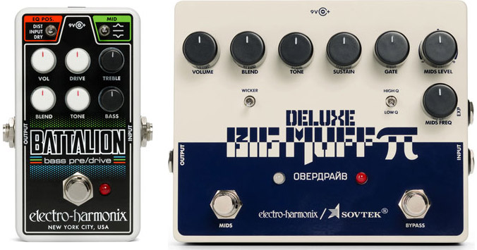 Electro-Harmonix Sovtek Deluxe Big Muff Pi Pedal and the Nano Battalion Bass Preamp