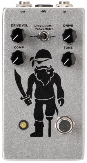 Pirate Guitar Effects Peg Leg Overdrive-Compressor Pedal