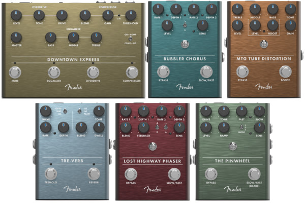 Fender Introduces New Effects Including First Bass-Specific Pedal
