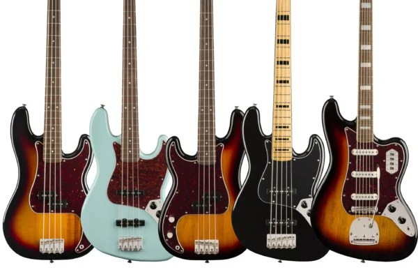 Squier Adds New Bass Models to Classic Vibe Series