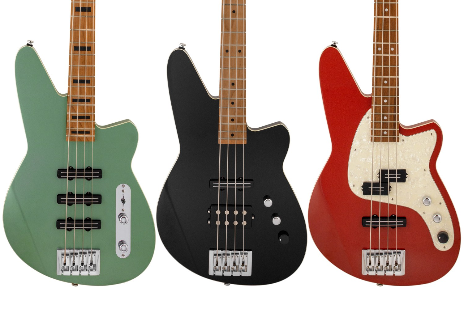Reverend Guitars Triad, Raymond, Decision P Basses