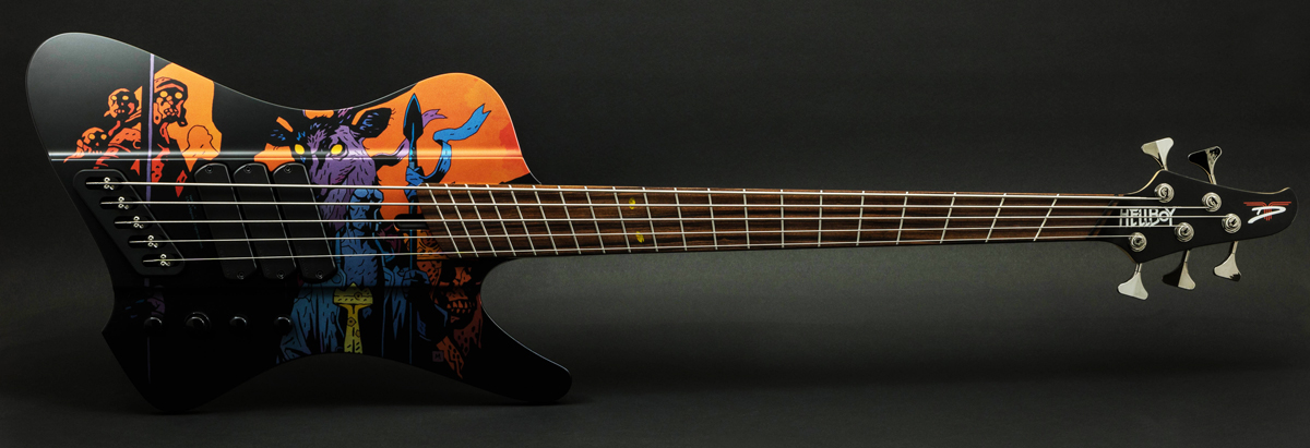 "Dingwall Guitars D-Roc Rob van der Loo ""Hellboy"" Limited Edition 5-string Bass"