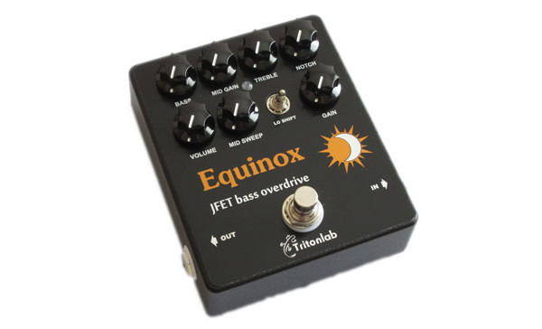 Tritonlab Introduces the Equinox Bass Preamp/Overdrive Pedal