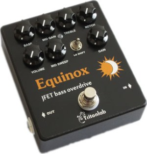 Tritonlab Equinox Bass Preamp-Overdrive Pedal