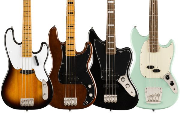 New Squier Classic Vibe Basses Debut at Summer NAMM
