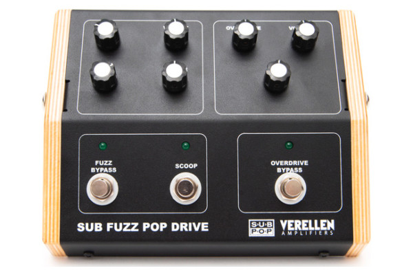 Verellen Amps and Sub Pop Unveil the Sub Fuzz Pop Drive Pedal
