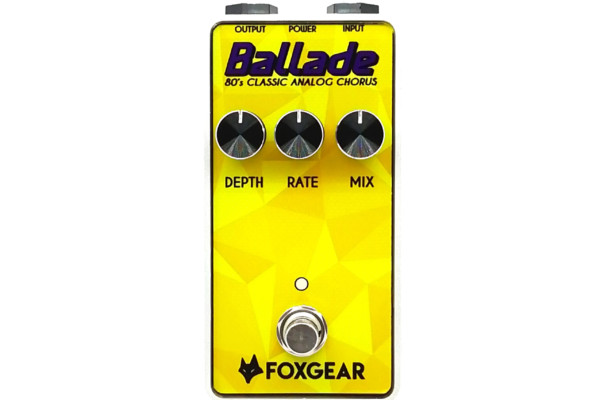 Foxgear Announces the Ballade Chorus Pedal