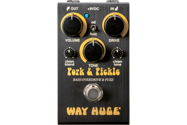Way Huge Smalls Pork & Pickle Overdrive and Fuzz Pedal Now Shipping