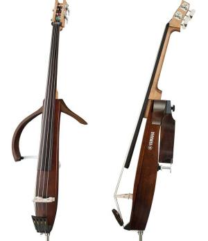 Yamaha Silent Bass SLB300SK Front and Side View