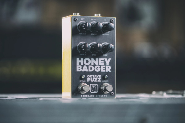 Redbeard Effects Announces the Honey Badger Octave Fuzz Pedal