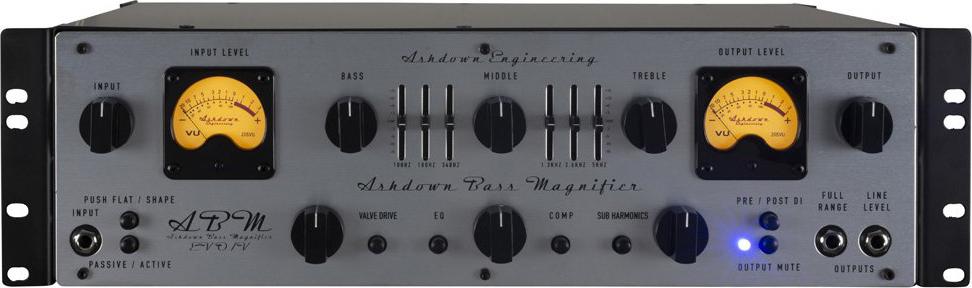 Ashdown ABM EVO IV Dual VU Rack Bass Head