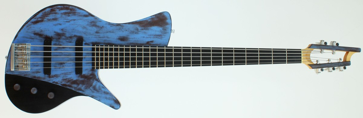 Ulrich BassDesign Weathered Blue 5-String Bass