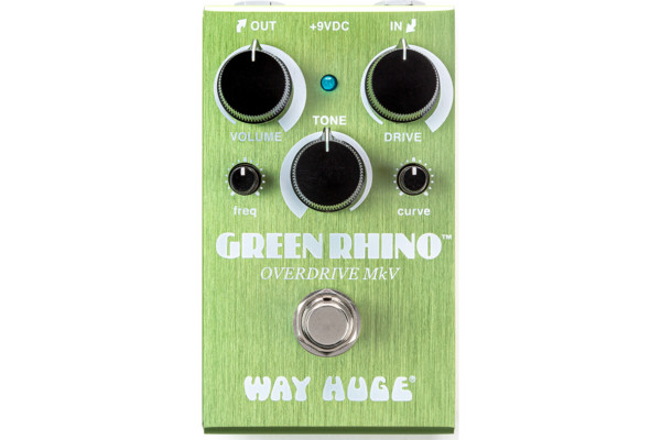 Way Huge Introduces the Smalls Green Rhino Overdrive MKV Pedal