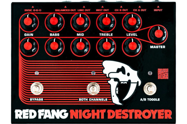 Hilbish Design Introduces Sunn-Inspired Red Fang Night Destroyer Preamp Pedal
