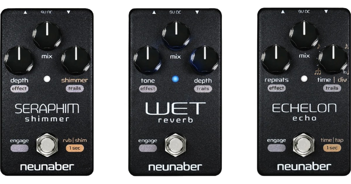 Neunaber Elements Series Bass Pedals